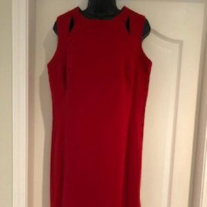 Akris Punto Midi Dress with Cut-Outs Red Size 12